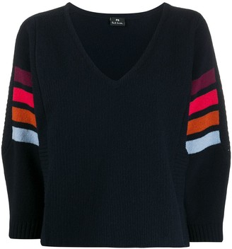 Paul Smith contrasting stripe cropped jumper