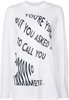 Y-3 long-sleeved graphic top