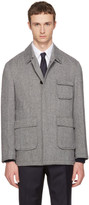 Thom Browne Black and White Patch Pocket Driver Jacket