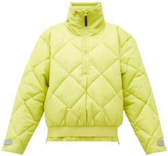 adidas by Stella McCartney Quilted Shell Bomber Jacket - Womens - Green
