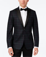 Lauren Ralph Lauren Classic-Fit Navy Green Plaid Dinner Jacket