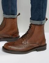 Dead Vintage Brogue Boots Tan Leather