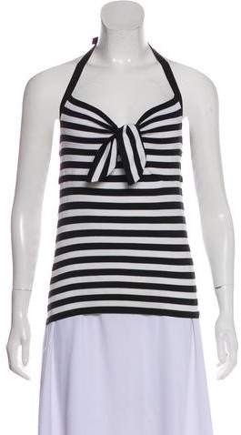 Striped Sleeveless Halter Top