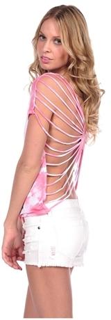 Vintage Havana Tie Dye String Back Top