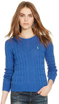 Polo Ralph Lauren Slim Cable Crewneck Sweater