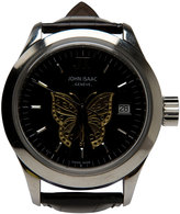 John Isaac Butterfly Alligator Strap Watch