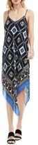 Vince Camuto Petite Women's Graphic Handkerchief Slipdress