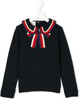 Gucci Kids GG Web collar sweatshirt