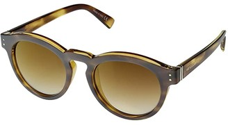 Von Zipper VonZipper Ditty (Frosted Tortoise/Gold Chrome Grad) Athletic Performance Sport Sunglasses