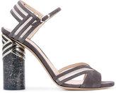 Nicholas Kirkwood Zaha sandals - women - Calf Leather/Suede/Kid Leather - 35