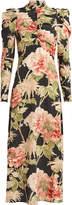 Zimmermann Espionage Floral Silk Dress