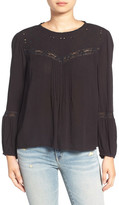 Hinge Lace Inset Peasant Top