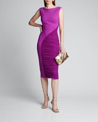 Chiara Boni Sleeveless Ruched Illusion Inset Dress