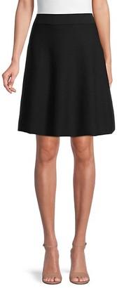 Saks Fifth Avenue Half Milano Swing Skirt