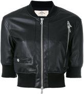Urban Code Urbancode - cropped bomber jacket - women - Polyester/Polyurethane - 12