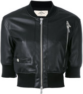 Urban Code Urbancode - cropped bomber jacket - women - Polyester/Polyurethane - 8