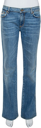 Roberto Cavalli Indigo Light wash Denim Sequined Straight Fit Jeans L