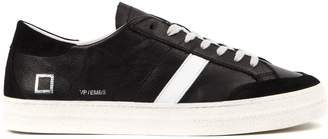D.A.T.E Vamp Embossed Black Leather Sneakers