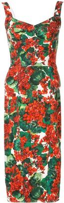 Dolce & Gabbana Portofino Print Cady Bustier Dress