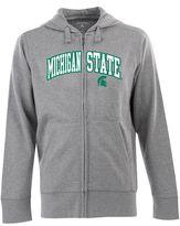 Antigua Men's Michigan State Spartans Signature Zip Front Fleece Hoodie
