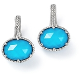 Judith Ripka Sterling Silver Eclipse Turquoise Doublet Earrings