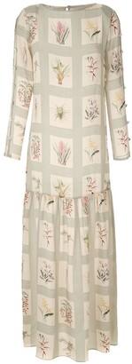 Adriana Degreas Silk Maxi Dress