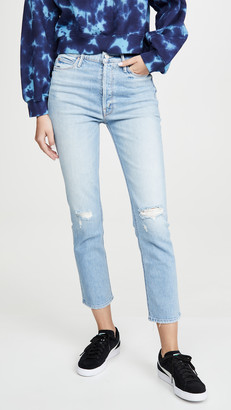 Mother Superior The Dazzler Button Fly Ankle Jeans