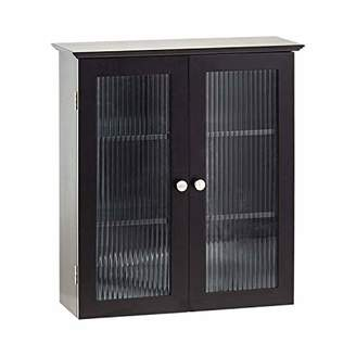 URBAN RESEARCH AZ L1 Life Concept Wall Cabinet with Two Glass Free Standing with 3 Storage Shelves Organization Madicine Cabinet