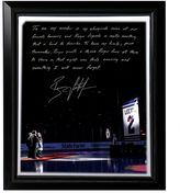 """Steiner Sports New York Rangers Brian Leetch Banner Night Facsimile 22"""" x 26"""" Framed Stretched Story Canvas"""