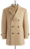 Lauren Ralph Lauren Layered-Look Pea Coat