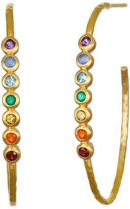 Satya Chakra Multi-Gemstone Hoop Earrings