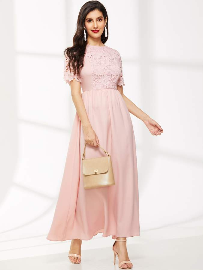 a368aeb607 Shein Pink Fitted Dresses - ShopStyle