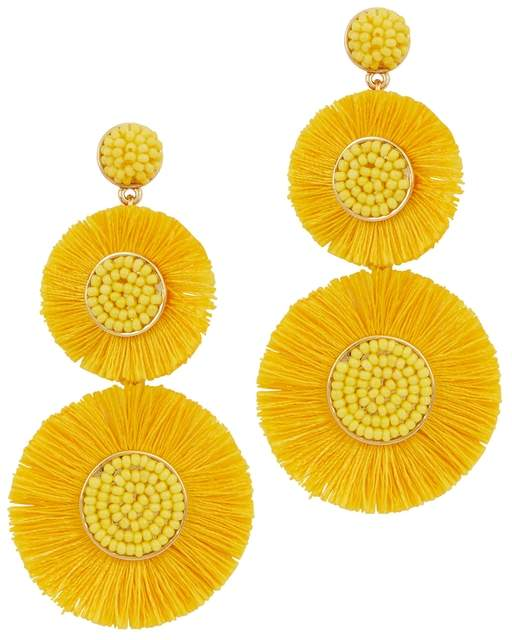 BaubleBar Mariette Fringed Drop Earrings