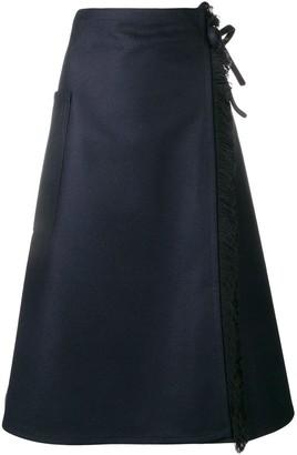Sofie D'hoore Fringed Wrap Skirt