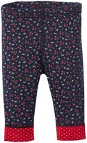 Petit Bateau Flower Print Leggings (Baby) - Navy/Multicolor-3 Months