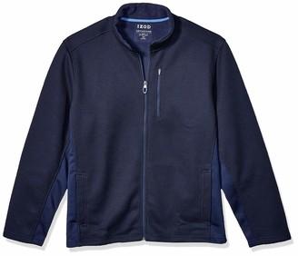 Izod Men's Big & Tall Big Advantage Performance Long Sleeve Full Zip Soft Touch Fleece Jacket