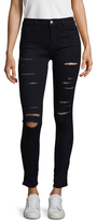 Love Moschino Ripped Cotton Skinny Jeans