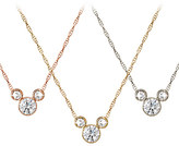Disney Diamond Mickey Mouse Necklace - Medium - 18K