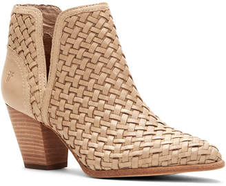 Frye Reed Cut Out Woven Leather Bootie