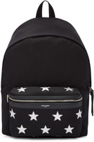 Saint Laurent Black Canvas Stars Backpack