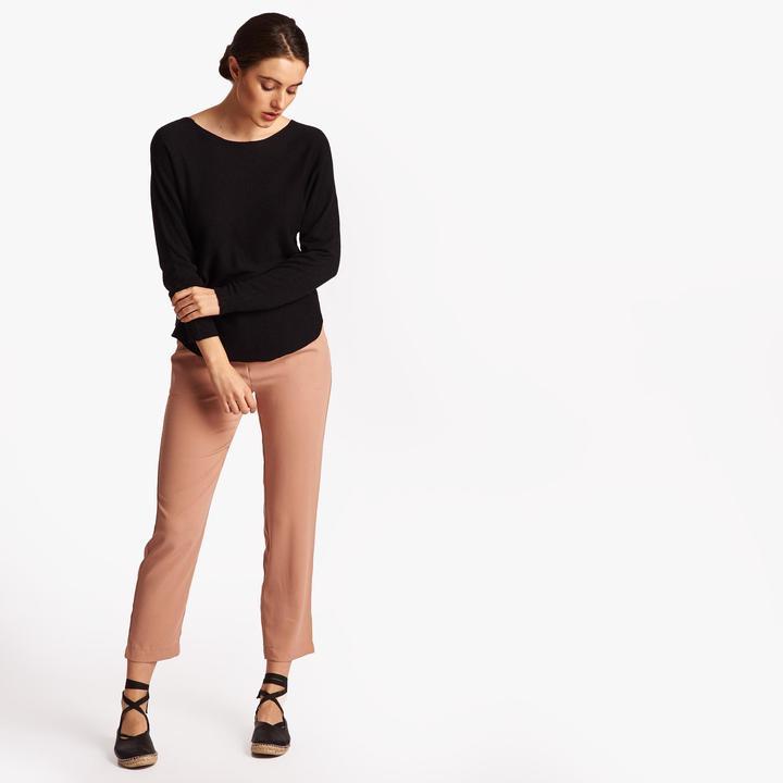 Joan Vass Women's Round-Neck Knit Top