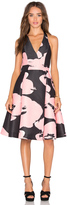 Halston Halter Floral Dress