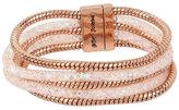 Betsey Johnson Confetti Crystal Stone Tube Magnetic Bracelet