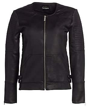 The Kooples Women's Faux Leather Moto Jacket