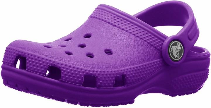 CLOSEOUT Crocs Crocband Mammoth LEGO Neon Magenta Purple Size J1