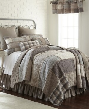 American Heritage Textiles Smoky Cobblestone Cotton Quilt Collection, Queen
