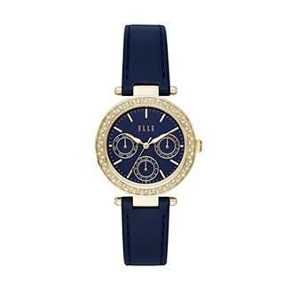 Elle Marais Multifunction Leather Watch