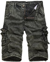 SiYang Man Mens Casual Slim Fit Cotton Solid Multi-Pocket Cargo Camouflage Shorts