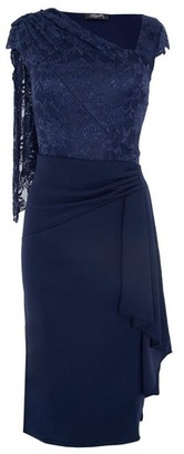 Dorothy Perkins Womens *Feverfish Navy Lace Midi Cape Dress
