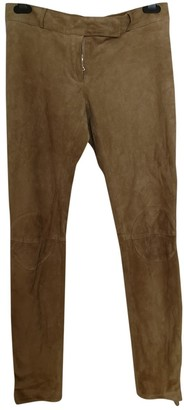 Marni Camel Suede Trousers